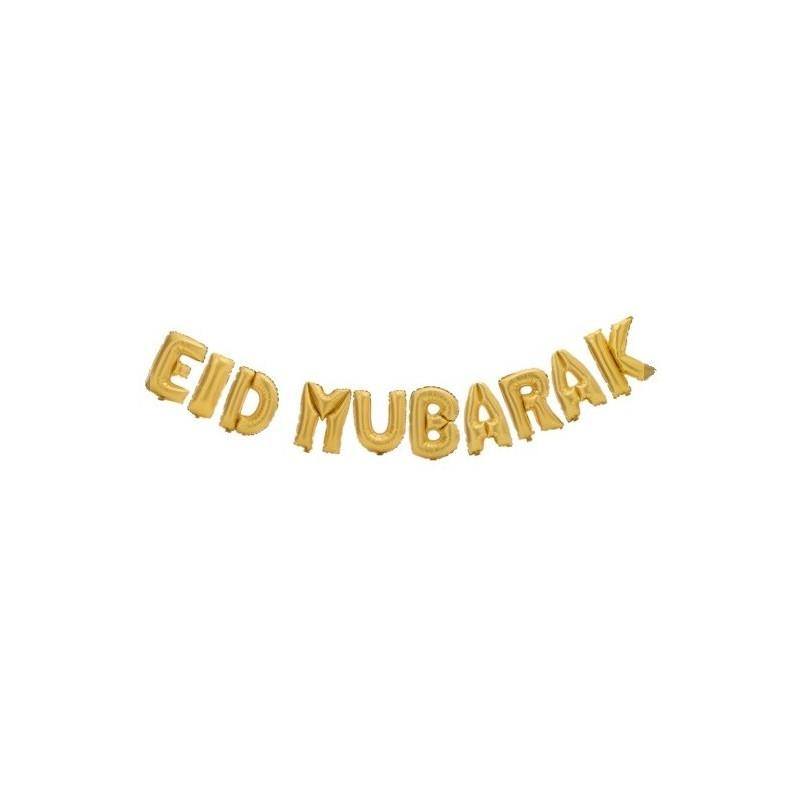 Eid mubarak balloon Gold