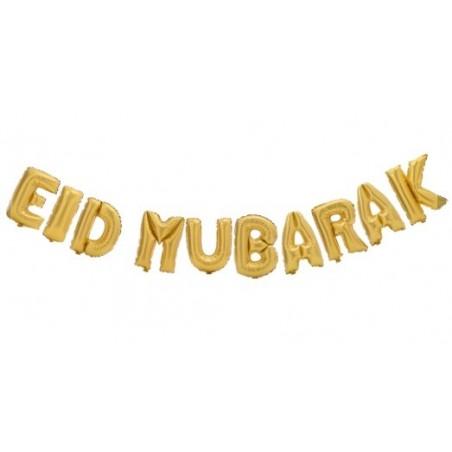 Eid mubarak ballon Goud
