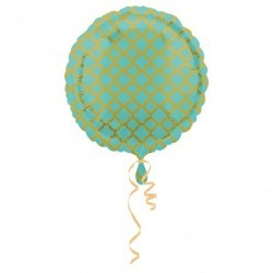Folieballon quatrefoil mint