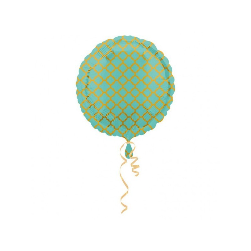 Foil balloon Quatrefoil balloon mint/gold