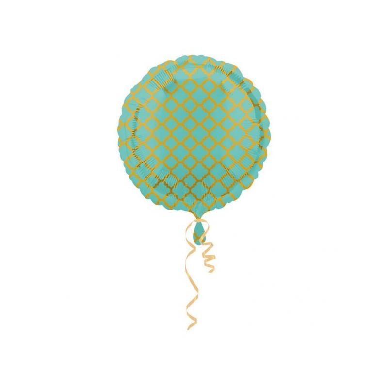 Folieballon quatrefoil mint