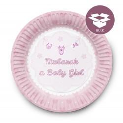 DessertBordjes Geboortje Meisje (50 stuks)