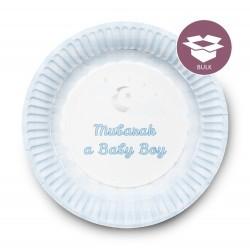 Dessertbordjes Geboortje Jongen (50 stuks)