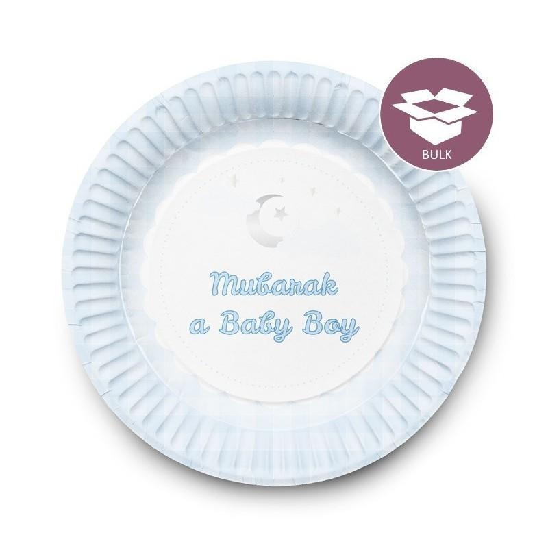 Dessert Plates Boy (50  pieces)