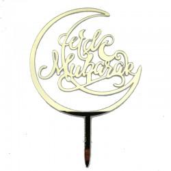 Cake topper Eid Mubarak 'Moon'- Gold (1 pcs)