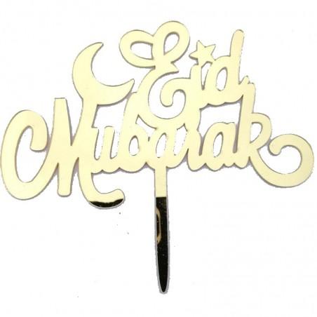 Taarttopper Eid Mubarak 'Eid' - Goud (1 stuks)