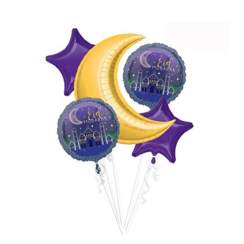 Eid Mubarak Folieballonnen (set)