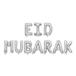 Eid Mubarak Letters Silver