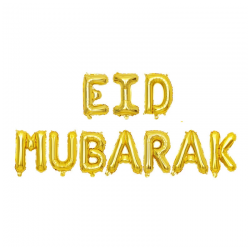 "Folieballon ""Eid mubarak"" Goud"