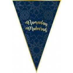 Bunting Ramadan blue/gold