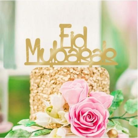 Taarttopper Eid Mubarak - Goud (1 stuks)