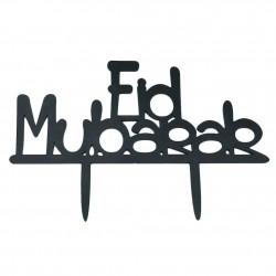 Taarttopper Eid Mubarak  - Zwart (1 stuks)