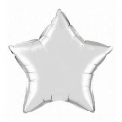 Ballon ster zilver (groot)
