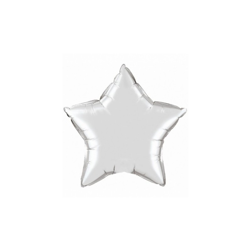 Star Balloon large silver