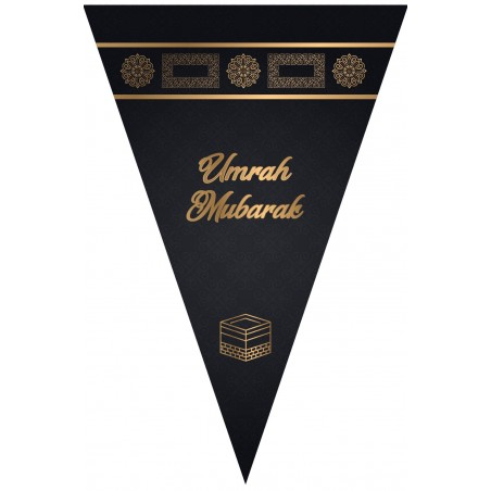 Slinger Umrah mubarak (zwart/goud)
