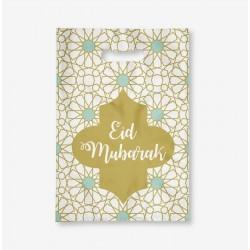 Eid mubarak Traktatiezakjes mint/goud 6 stuks