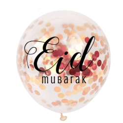 Balloon confetti Eid Mubarak rose gold (5pk)