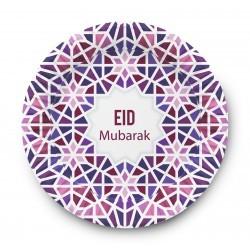 Assiettes Mubarak Mosaic Eid (Ensemble de 6)