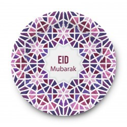 Plates Eid Mubarak mosaic (6pk)