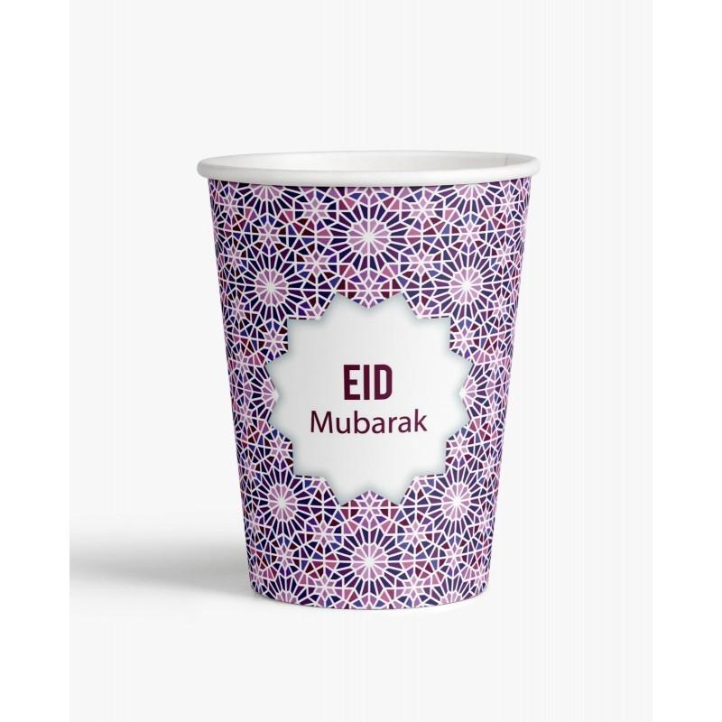 Bekers Eid mubarak mozaïek (set van 6)