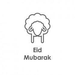 Grußkarte Eid Mubarak - Schafe