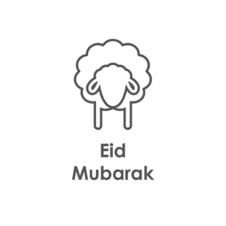 Greeting Card Eid Mubarak Sheep