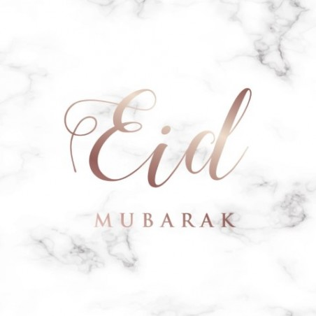 Wenskaart Eid Mubarak - Marmer