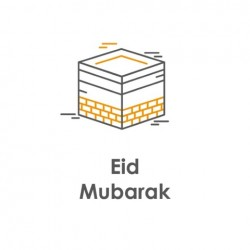 Greeting Card Eid Mubarak Kaaba