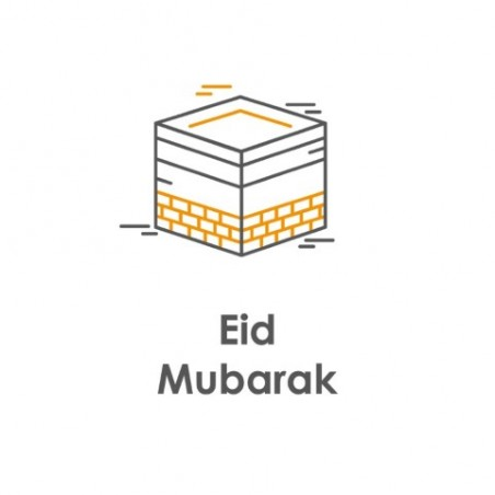 Greeting card Eid Mubarak - Kaaba