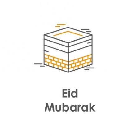 Wenskaart Eid Mubarak - Kaaba