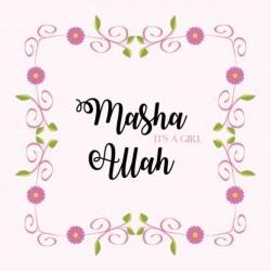 Greeting Card Birth Girl - Masha Allah a girl