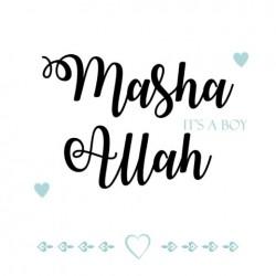 Greeting Card Baby Boy - Masha Allah a boy