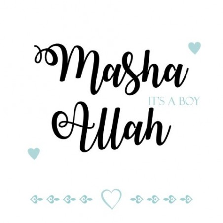 Carte de voeux Naissance Garçon - Masha Allah un garçon