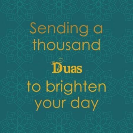 Grußkarte - Senden von tausend Duas