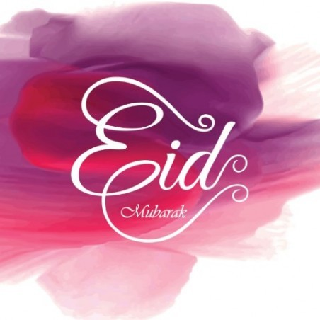 Greeting Card Eid Mubarak Fushia