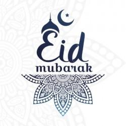 Greeting card Eid Mubarak Blue