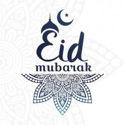 Grußkarte Eid Mubarak Blue