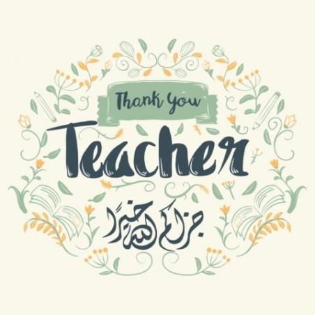 École de cartes de voeux - Merci professeur