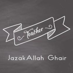 Wenskaart School - Jazaka Allah Ghair Teacher
