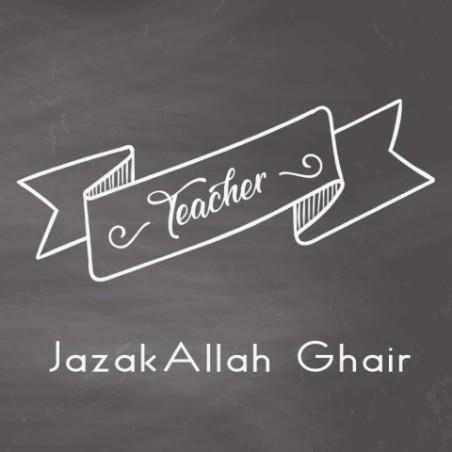 École de cartes de voeux - Professeur Jazaka Allah Ghair