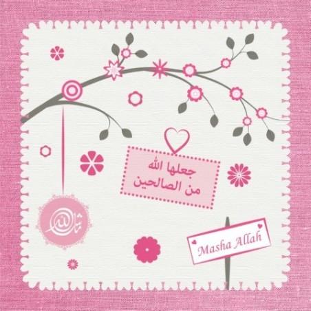 Greeting Card Birth Girl - Branch