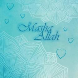Wenskaart Geboorte Jongen - Masha Allah Blue