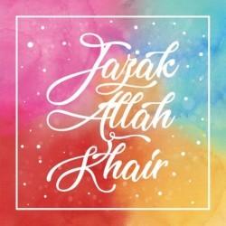Greeting Card - Jazak Allah Gair Multicolor