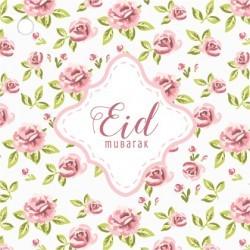 Geschenkanhänger Eid Mubarak - Vintage Rose (4 Stück)