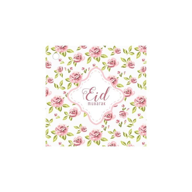 Cadeaukaartjes Eid Mubarak - Vintage Rose (4 stuks)