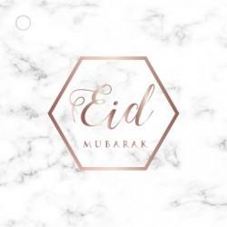 Etiquettes cadeaux Eid Mubarak - Marbre (4 pcs)