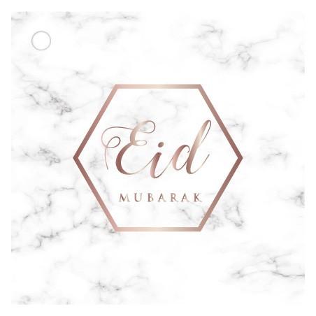 Cadeaukaartjes Eid Mubarak - Marmer (4 stuks)