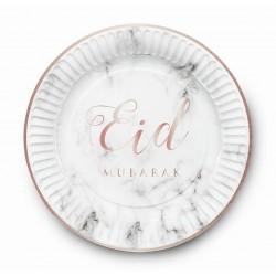 Plates Eid Mubarak marble (6pk)