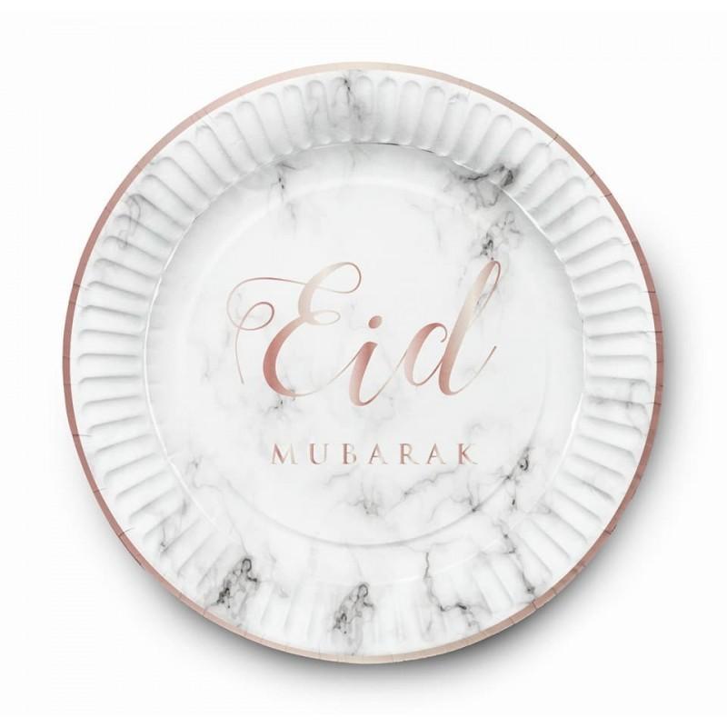 Borden Eid mubarak marmer (set van 6)
