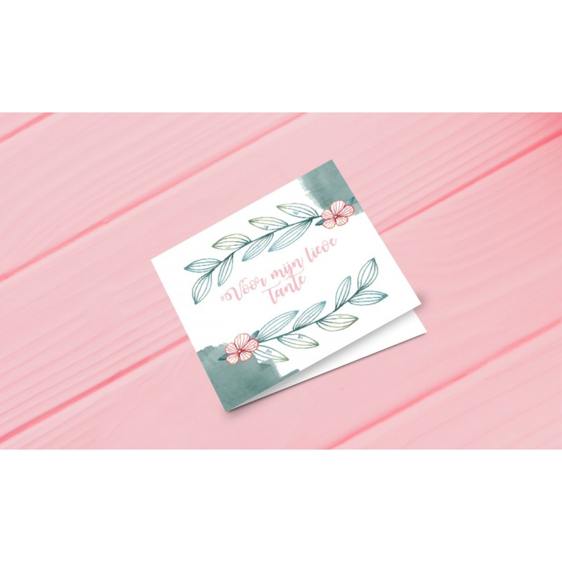 Greeting card Auntie - Dear Auntie (dutch)